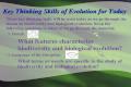Key Thinking Skills of Evolution for Today