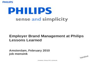 EVP strategie Philips Job Mensink