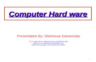 Comp hardware Introduction
