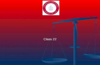 Agency & Partnership Professor Donald J. Kochan Class 22