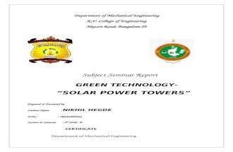 Seminar Report-solar Tower