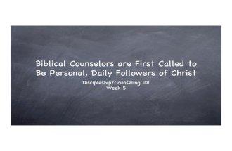 BC&D-5: Followers of Christ
